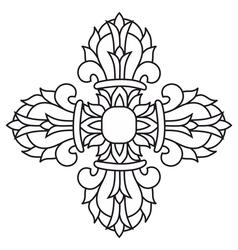 Sacred buddhist religious symbol - vajra or dorje vector
