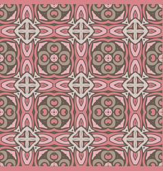 seamless abstract celtic geometric tiled pattern vector image