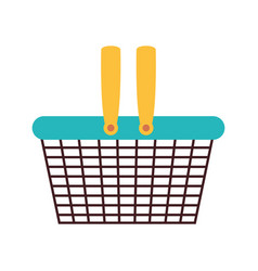 silhouette color with metallic shopping basket vector image