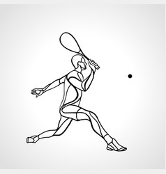 squash player creative abstract silhouette vector image