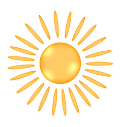 sun sign icon vector image