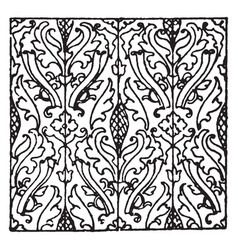 Textile pattern comes from a 1560 venetian vector