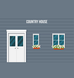 the facade of the country house vector image