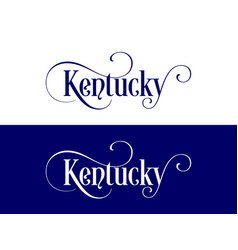 typography of the usa kentucky states handwritten vector image