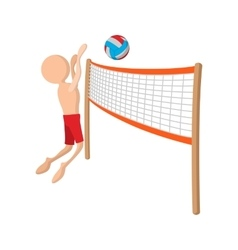 Volleyball player cartoon icon vector image