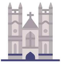 westminster abbey flat vector image