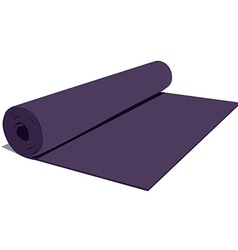 Yoga mat vector image