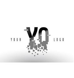 yq y q pixel letter logo with digital shattered vector image