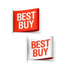 Best buy labels vector image