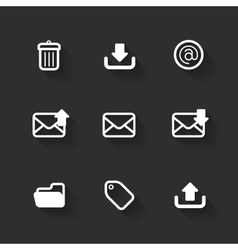 design flat icons vector image