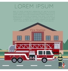 Fire Station Banner5 vector image