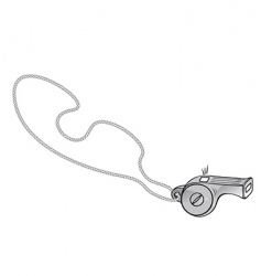referee's whistle vector image vector image