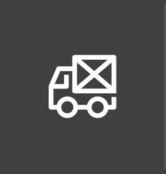 single line car icon mail envelope on the back vector image