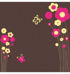 springtime floral butterfly vector image vector image
