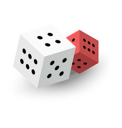 two dice cubes icon isometric 3d style vector image