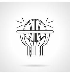 Basketball shot flat line icon vector