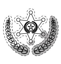 figure badge police signal icon vector image vector image