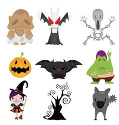 halloween items vector image vector image