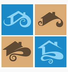 home emblems vector image