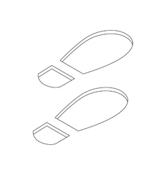 Imprint soles shoes icon isometric 3d style vector image