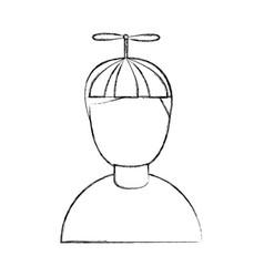 little boy avatar character vector image