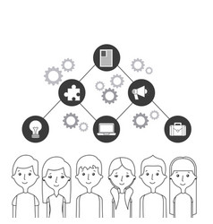 People and communication design vector