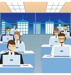 People working in a call center Office vector image vector image