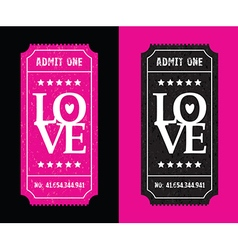 pink and black tickets vector image vector image