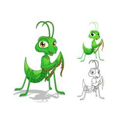 Praying Mantis Cartoon Character vector image