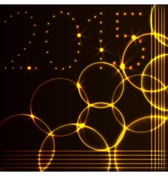 2015 new year greeting card with flame circles vector image