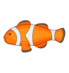 clown fish icon cartoon style vector image