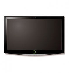 LCD TV wall hang vector image
