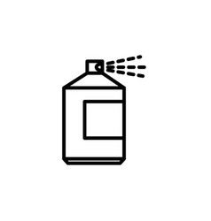 paint spray bottle vector image