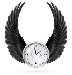 Black wings Clock vector image vector image