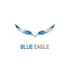 blue eagle logo vector image