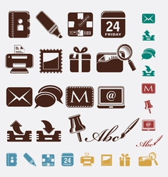 Post office icons vector image