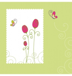 spring summer rose butterfly vector image vector image