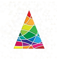 tree in rainbow colors vector image