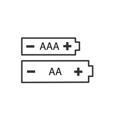 Aa and aaa alkaline batteriy icon set stock vector