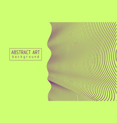 Abstract artistic linear background wavy lines vector