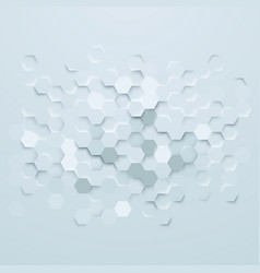 abstract hexagons background vector image