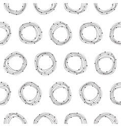 Abstract seamless pattern with circles vector image