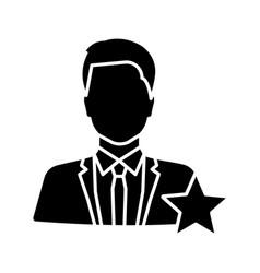 Actor or tv presenter glyph icon vector