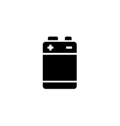 Alkaline battery flat icon vector