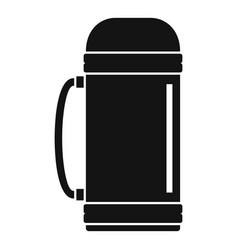 Aluminium vacuum bottle icon simple style vector