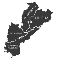Andhra pradesh - telangana - chhattisgarh vector