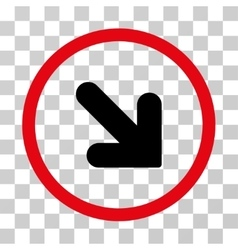 Arrow Down Right Rounded Icon vector