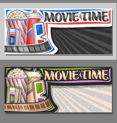Banners for movie time vector