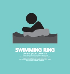 Black Symbol Swimming Ring vector
