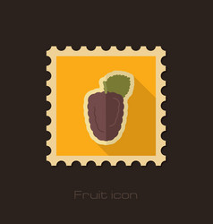 Blackberry bramble flat stamp berry fruit vector